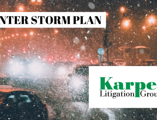 Winter Storm Personal Injury Preparedness Planning