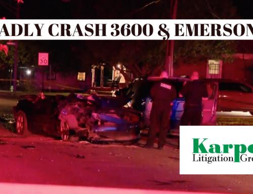 Deadly Crash Near 36th and Emerson – 5/25/20