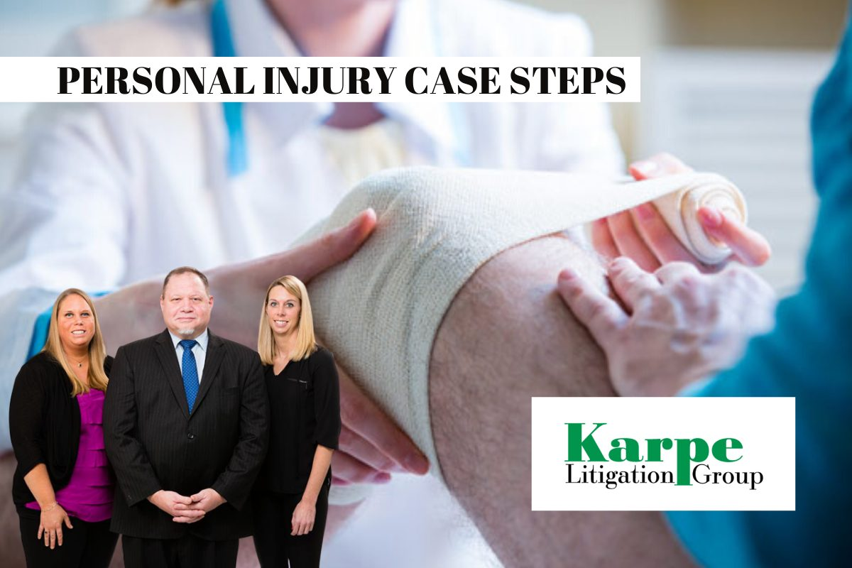 personal injury case step